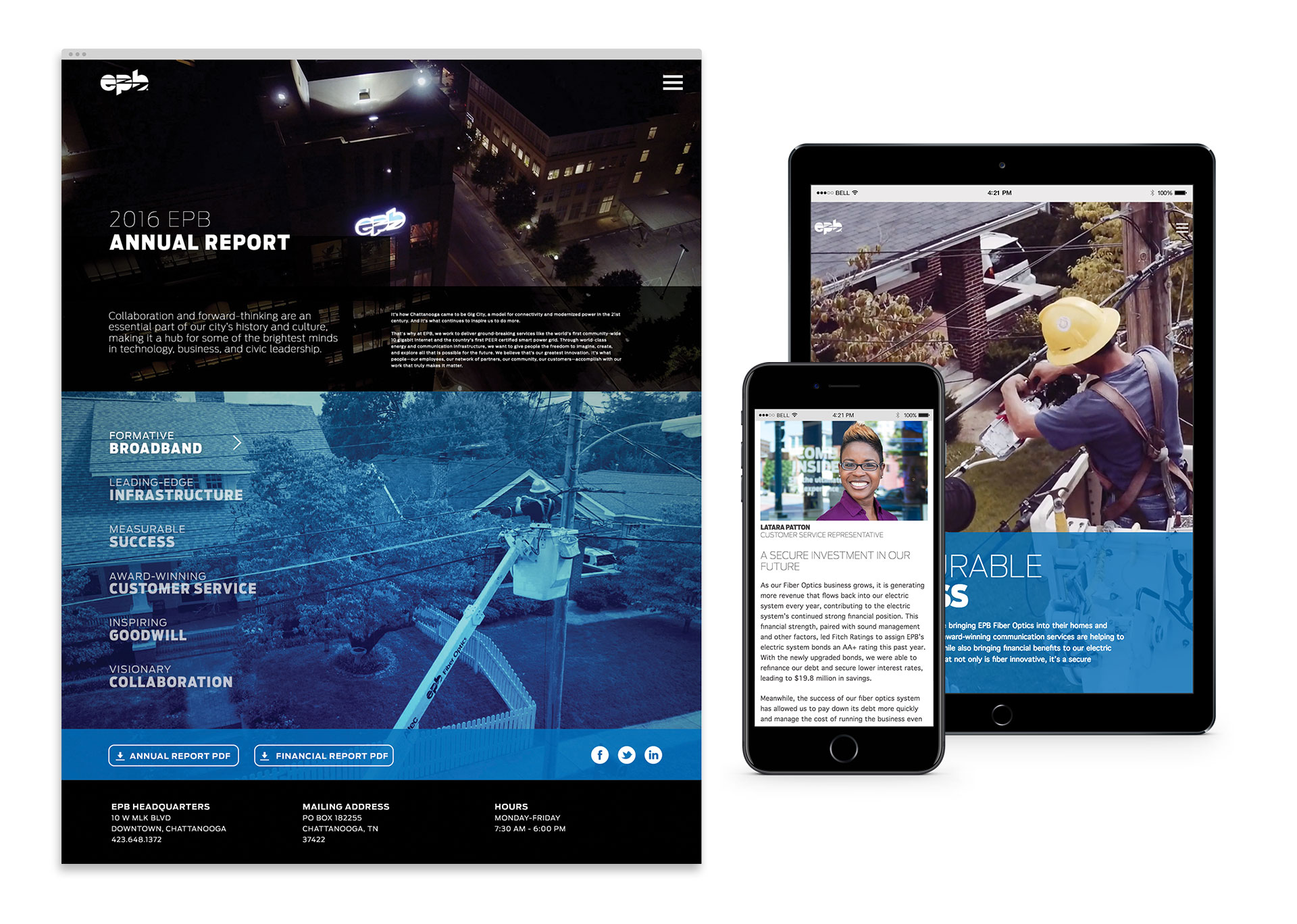 Tiny Giant - EPB - Annual Report Web Design and Development