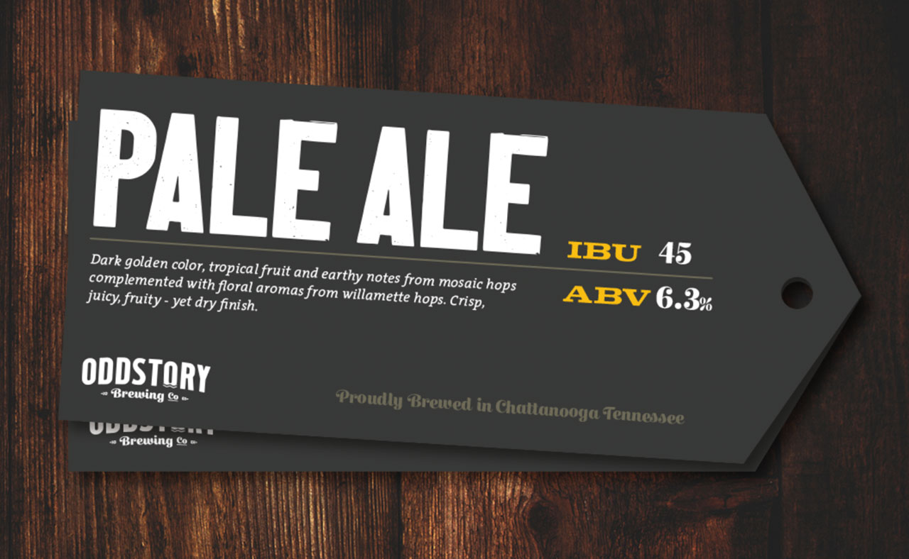 OddStory Brewing Co. - Identity, Growler Tags, Print Design