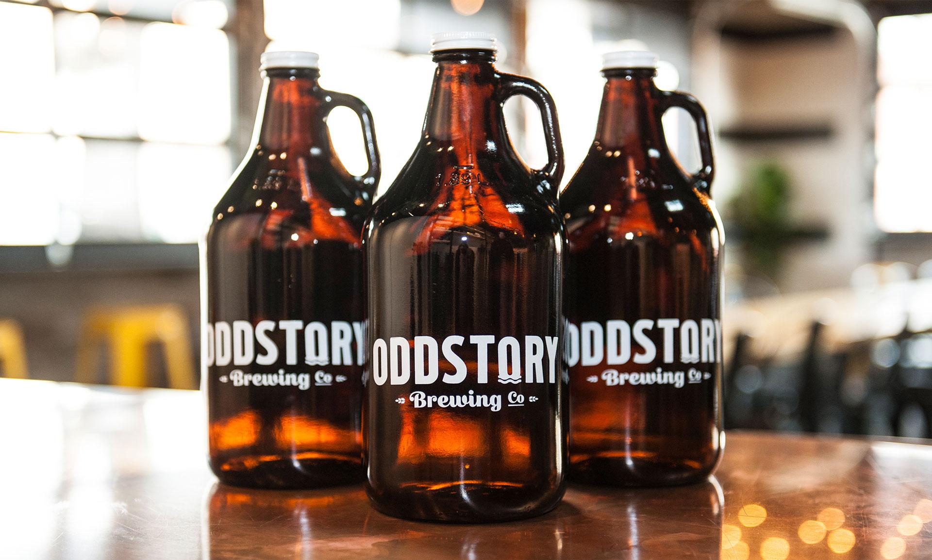 OddStory Brewing Co. - Identity, Growlers, Logos, Branding