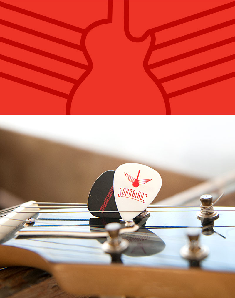 Songbirds Guitars - Branding, Identity, Logos, Guitar Picks