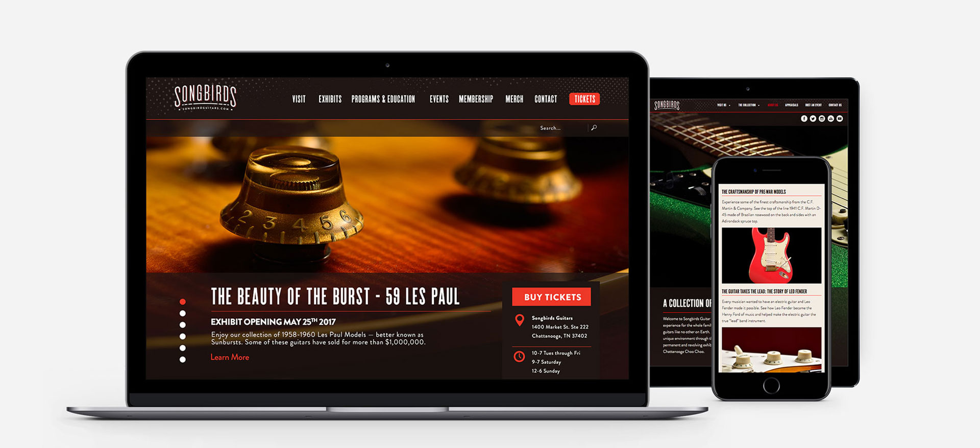 Songbirds Guitars - Branding, Identity, Logos, Logo Design, Web Design, Web Development