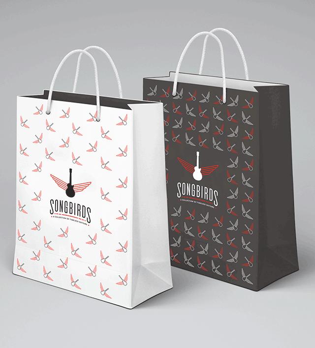 Songbirds Guitars - Branding, Identity, Logos, Print Design