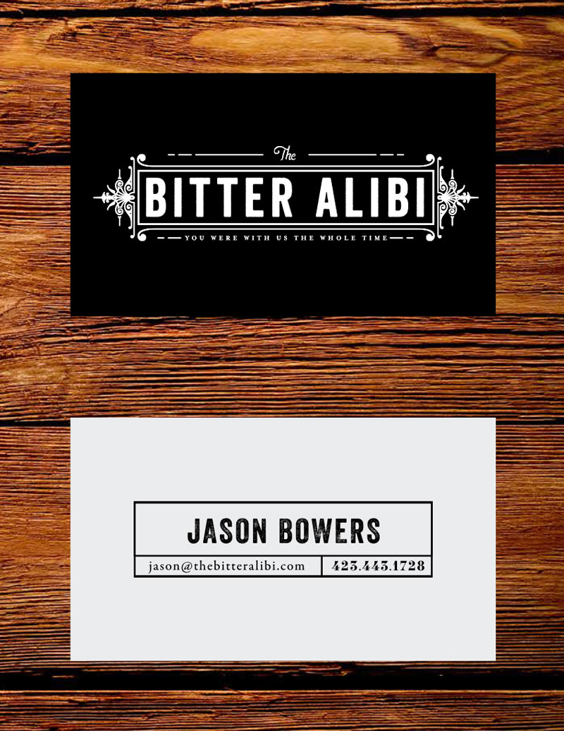 Tiny Giant - The Bitter Alibi - Business Cards