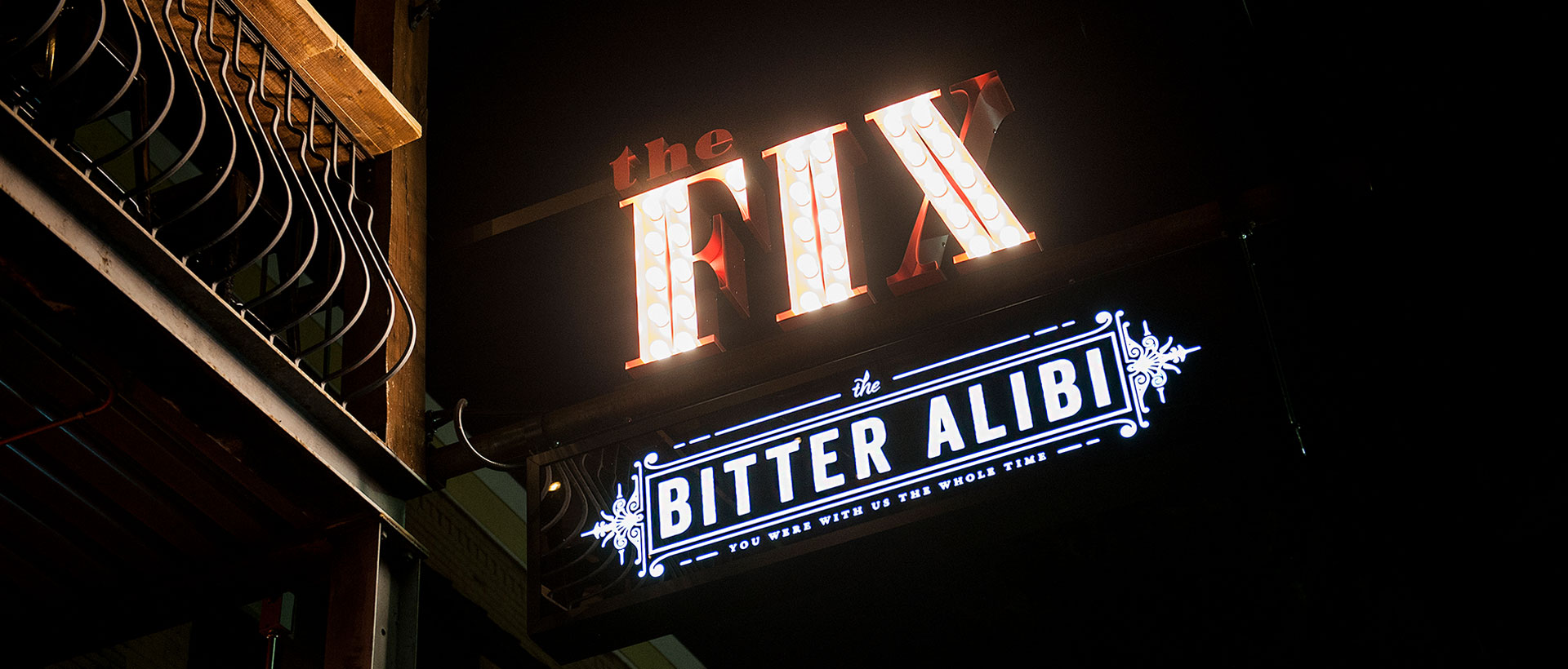The Bitter Alibi / The Fix - Branding, Identity, Logos, Signage, Signs