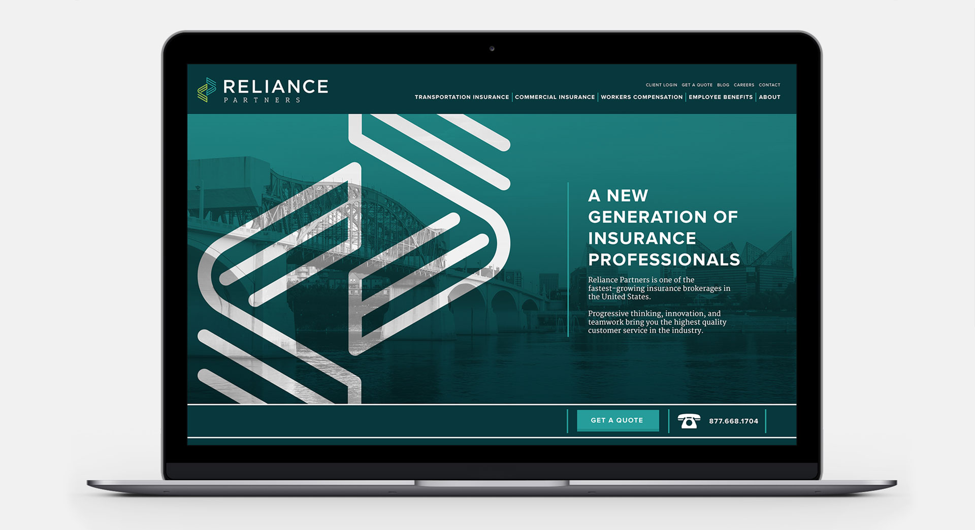 Tiny Giant - Reliance Partners - Site Redesign