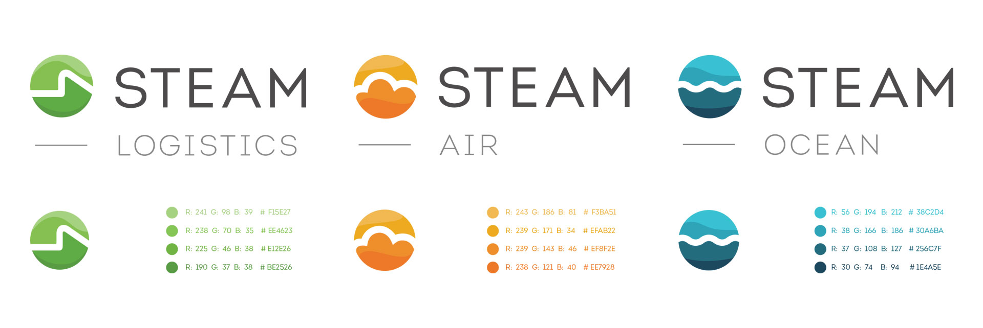 Tiny Giant - Steam Logistics - Logos, Icons, and Color Palettes