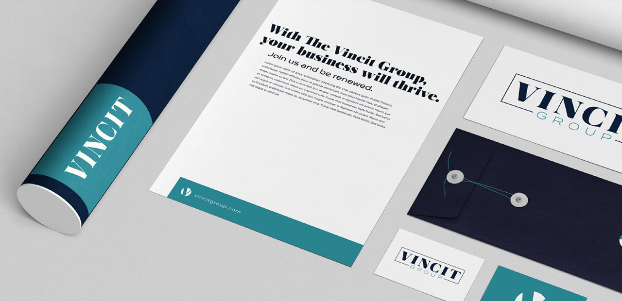 Tiny Giant - The Vincit Group - Stationary / Print Design
