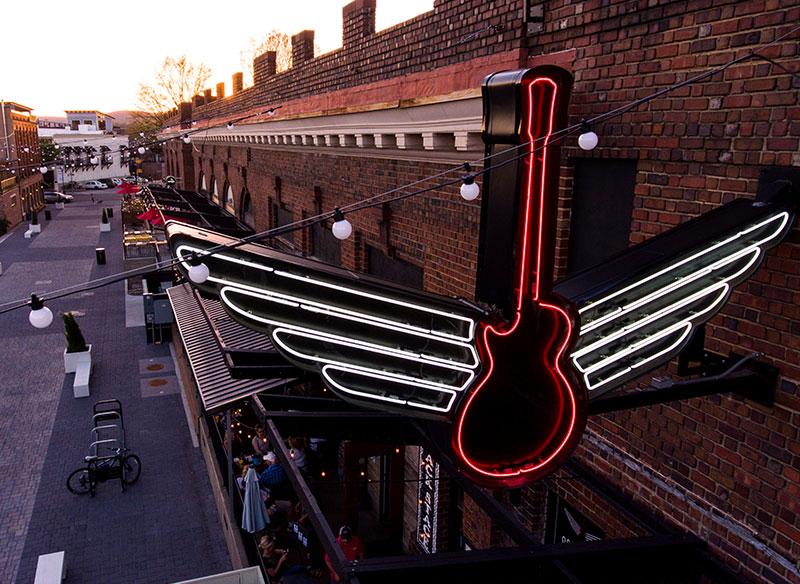 Songbirds Guitars - Branding, Identity, Logos, Logo Design, Signage, Neon