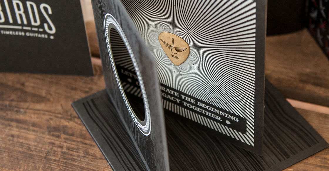 Songbirds Guitars - Branding, Identity, Print Design, Invitations