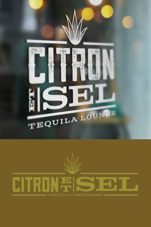 Citron et Sel - Signage, Brand Identity, Logo design, Branding