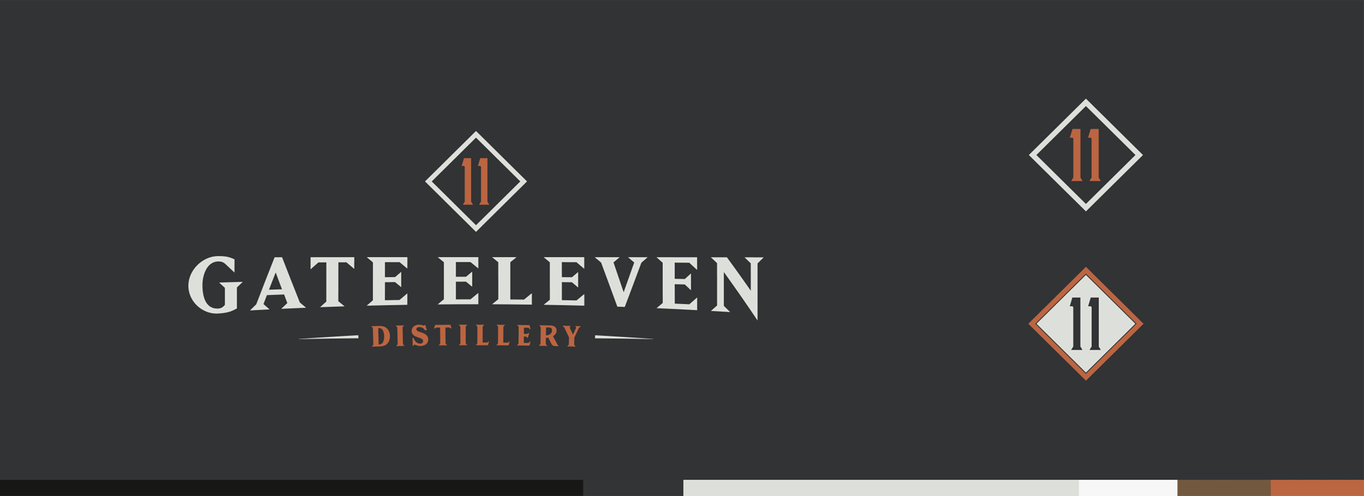 Gate 11 Distillery - Branding, Identity Design, Logos, Color Palettes