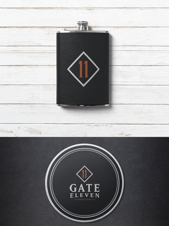 Gate 11 Distillery - Branding, Identity Design, Logos, Swag Design