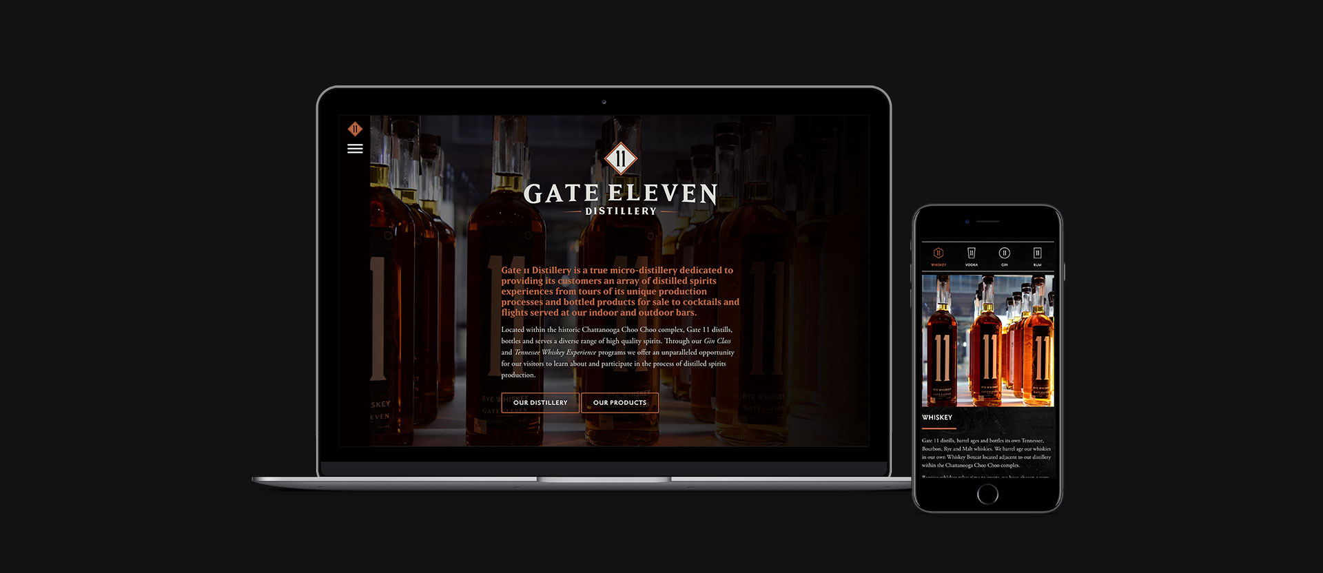 Gate 11 Distillery - Branding, Web Design, Web Development, Responsive Design