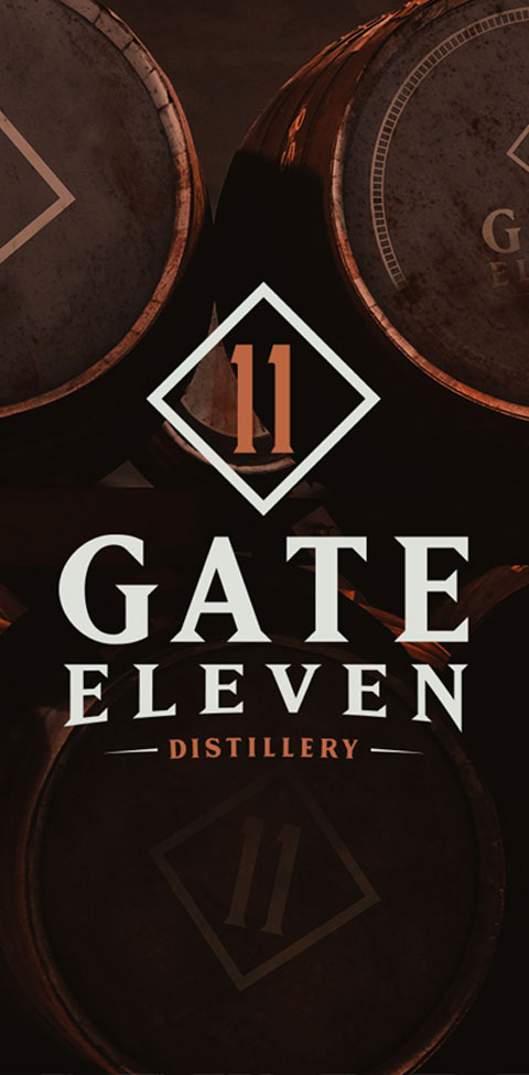 Gate 11 Distillery - Branding, Identity Design, Logos