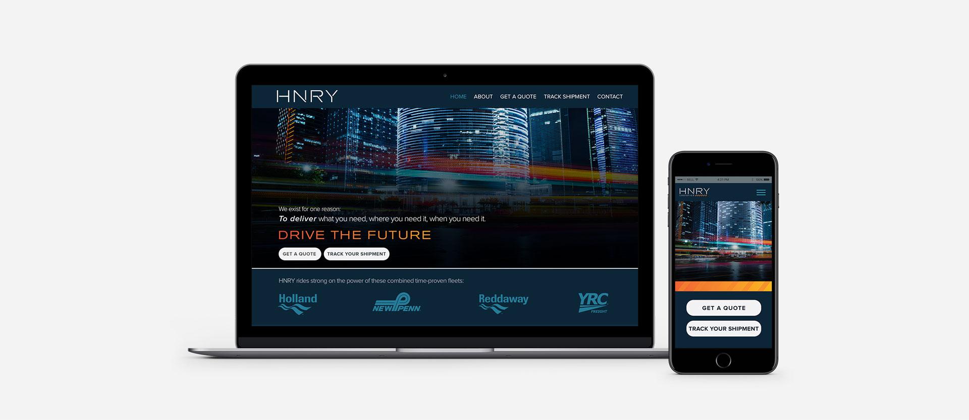 HNRY - Website Design