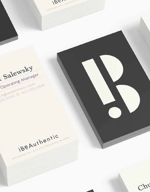 iBeAuthentic - Branding, Stationary Design