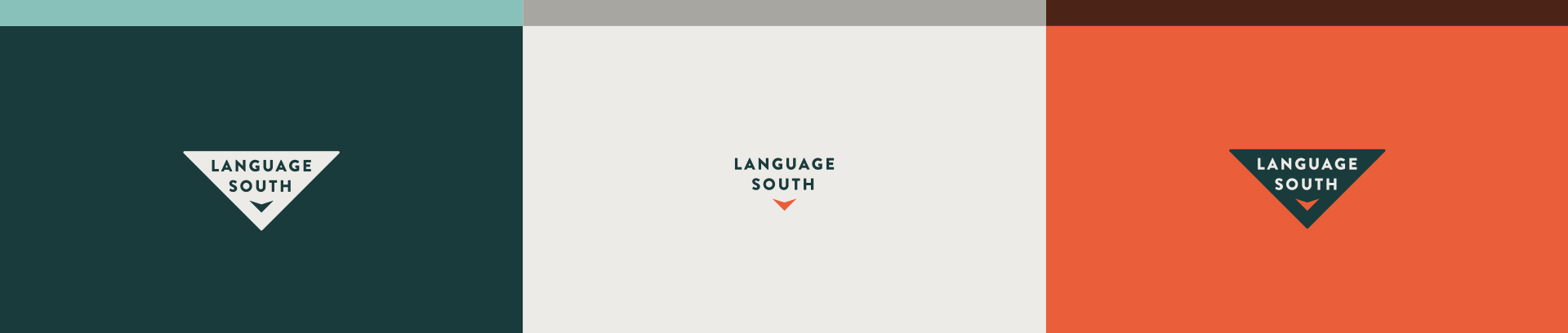 Language South - Brand Identity, Logos, Color Palettes
