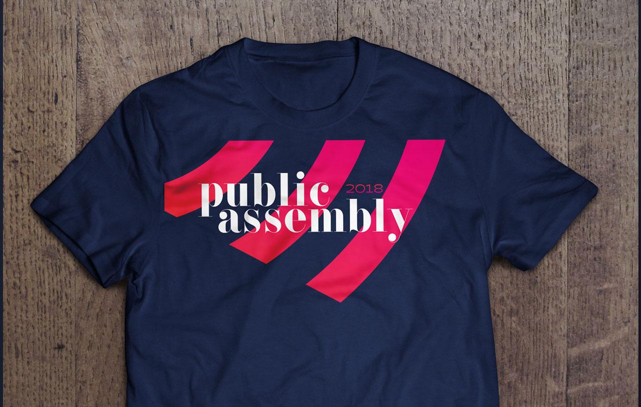 Public Assembly - Branding, Identity Design, Logo Design, Print Design, T-Shirt Design